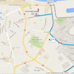 Plan itinéraire Collège Edmond Albius par le Sud