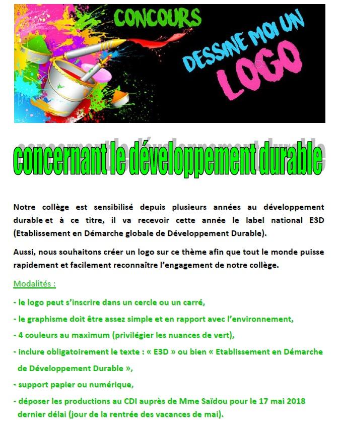 Concours Logo E3D | Collège Edmond Albius